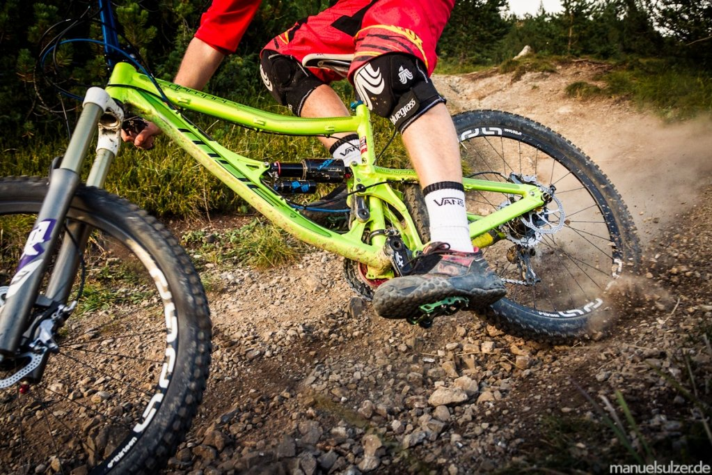 Der TRS+ ist ein All Mountain-LRS, wir testeten ihn jedoch auch im Bikepark