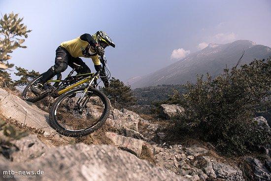Gardasee Test Session - Markus mit dem Rocky Altitude