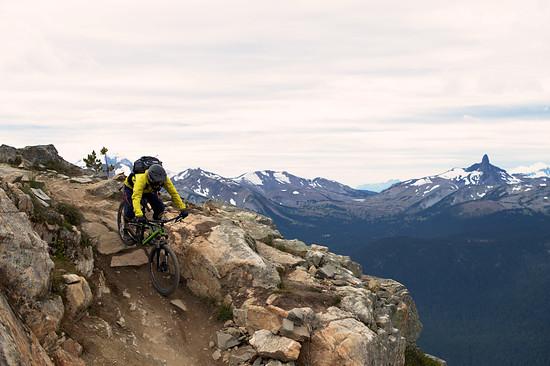 Moritz auf dem Top of the World Trail Whistler